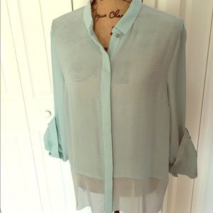 Fun, light weight button down top